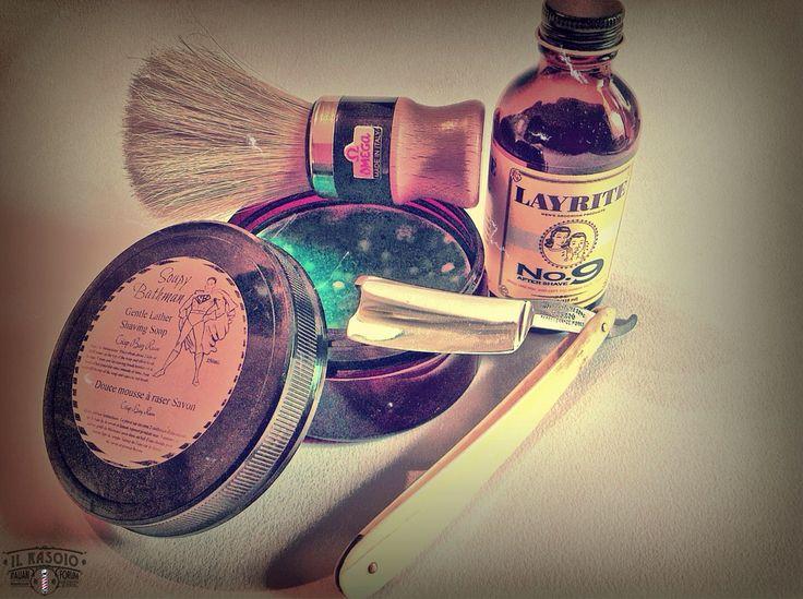 "SOTD 2015/06/13  Pre:Proraso — Crema Pre Barba — Olio di Sandalo e Burro di Karité. Brush: Omega #102 — Il Famoso Pennello — Pura Setola. Lather: Soapy Bathman — Gentle Lather — Crisp Bay Rum. Razor: J. Wostenholm & Son +Ebro+ —Perseverance Works — 5/8"" and Bone Scales. Strop: La Paciccella — Pigskin Chamois and Nappa Leather — by Paciccio. Post:Cold Water and Alum. As: Layrite No.9 — Smell Like You Just Left The Barber Shop... Everyday! — Bay Rum."