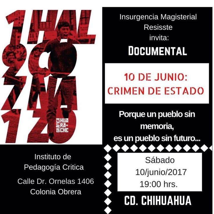Invita Insurgencia Magisterial- Resissste a pase de documental para mantener viva la exigencia de justicia por el Halconazo de 1971 | El Puntero