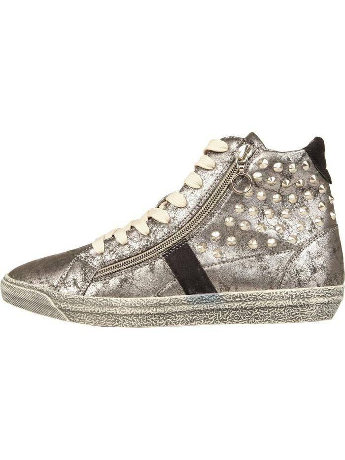 Ana Lublin #Damenschuhe Ana Lublin On the #Road #Linie - #Herbst / #Winter 2013-2014 - #flacher #Sneaker - #Obermaterial: #synthetisches #Material - Innen: #Synthetik und #Textil - Sohle: #Kunststoff von hoher #Qualität - #Schluss mit #Schnürsenkeln - #Dekoration: Metall-Nieten und #Reißverschluss - #Sneakers #Vintage-Effekt, geeignet für die #Freizeit