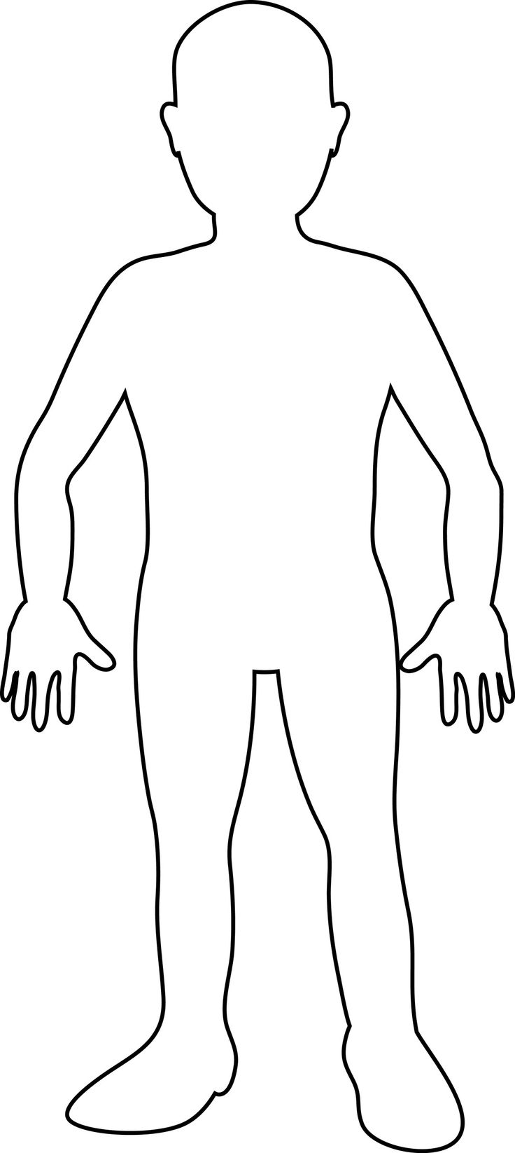 human body, fill in name of bodyparts as they learn.