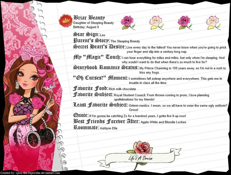 briar beauty profile | ever after high | Pinterest ...