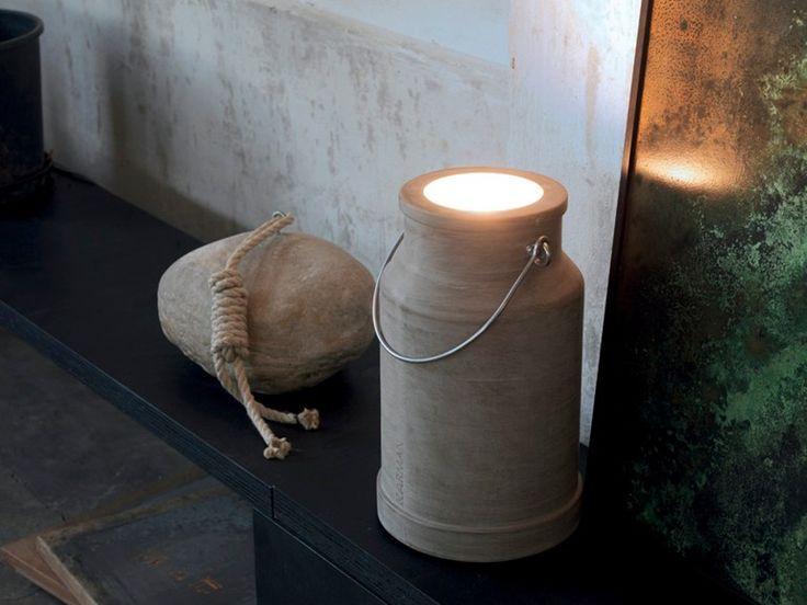 Lampada da terra a LED in cemento VIA LATTEA by Karman design Bizzarridesign