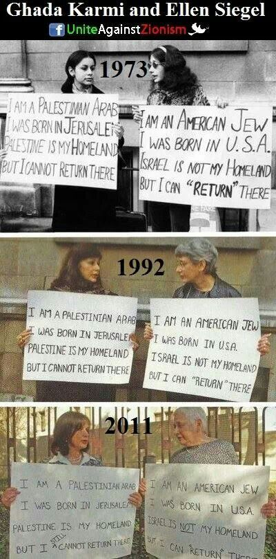 Palestine irony pictures over the decades