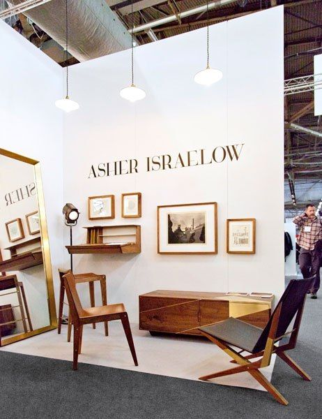 Brooklyn designer Asher Israelow's showstopping wood furniture, accented with gleaming brass and gold. asherisraelow.com
