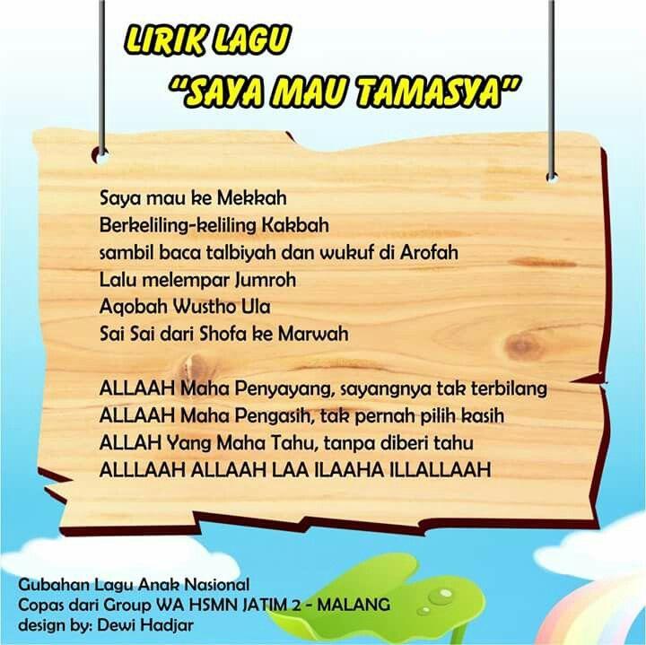 Saya Mau Tamasya (original song Naik Becak - Ibu Soed)
