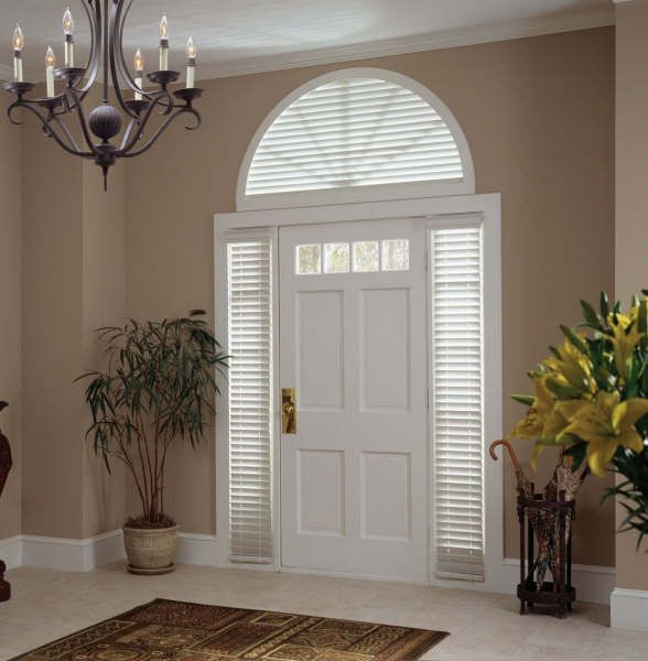 front door side glass | Window Coverings | Products Gallery | Columbian Blinds and Shutters