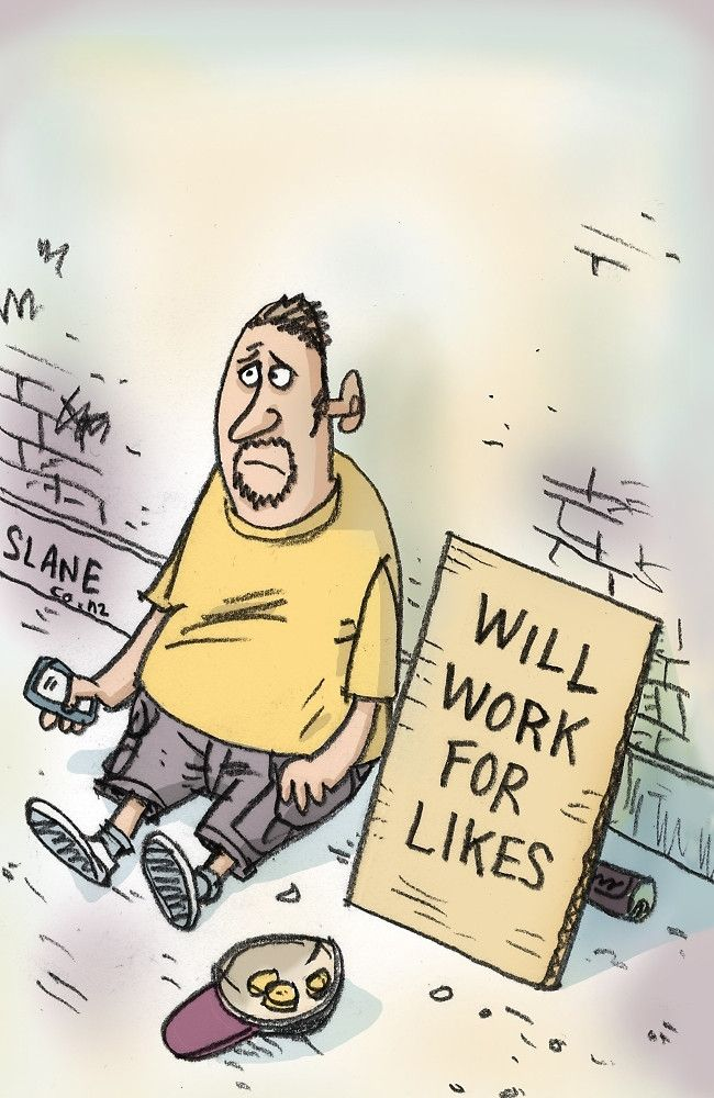 Will Work For Likes by slanecartoons