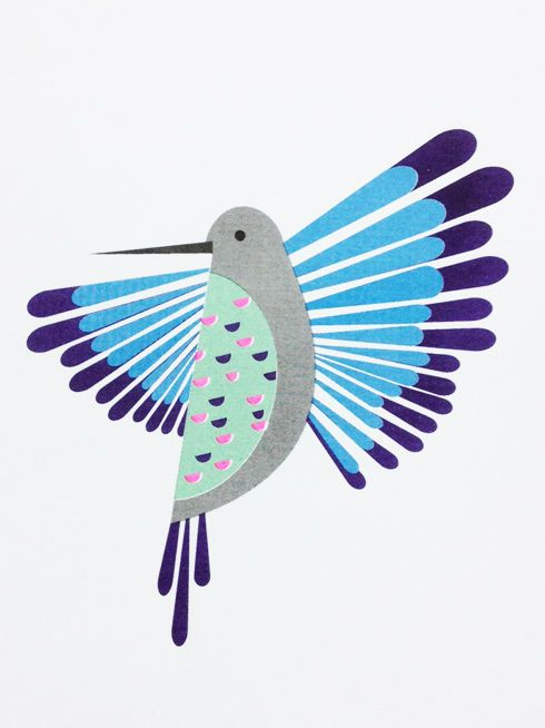 Hummingbird Print by Scout Editions