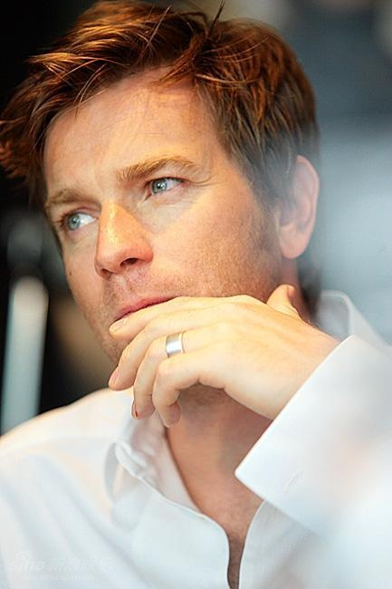 Ewan McGregor.  he has gotten better with age.  but damn, i love his voice, his sense of humor, and his love for his wife and children.