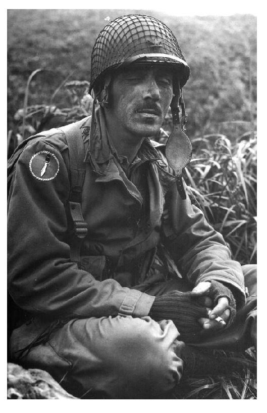 Colonel Robert T. Frederick, USA/Canada FSSF - Kiska, Quisling Cove, Aug. 15. 1943.