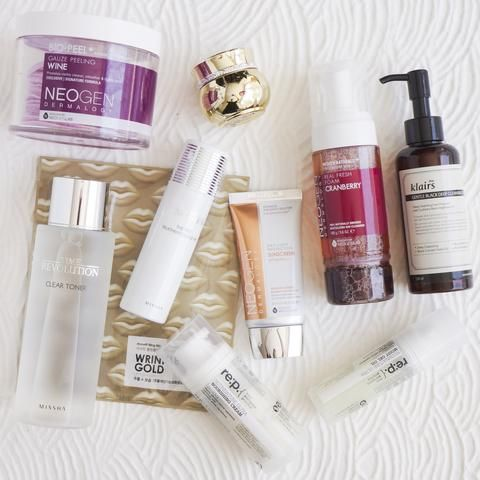 10-Step Korean Skin Care Routine Set (Dry Skin Type)