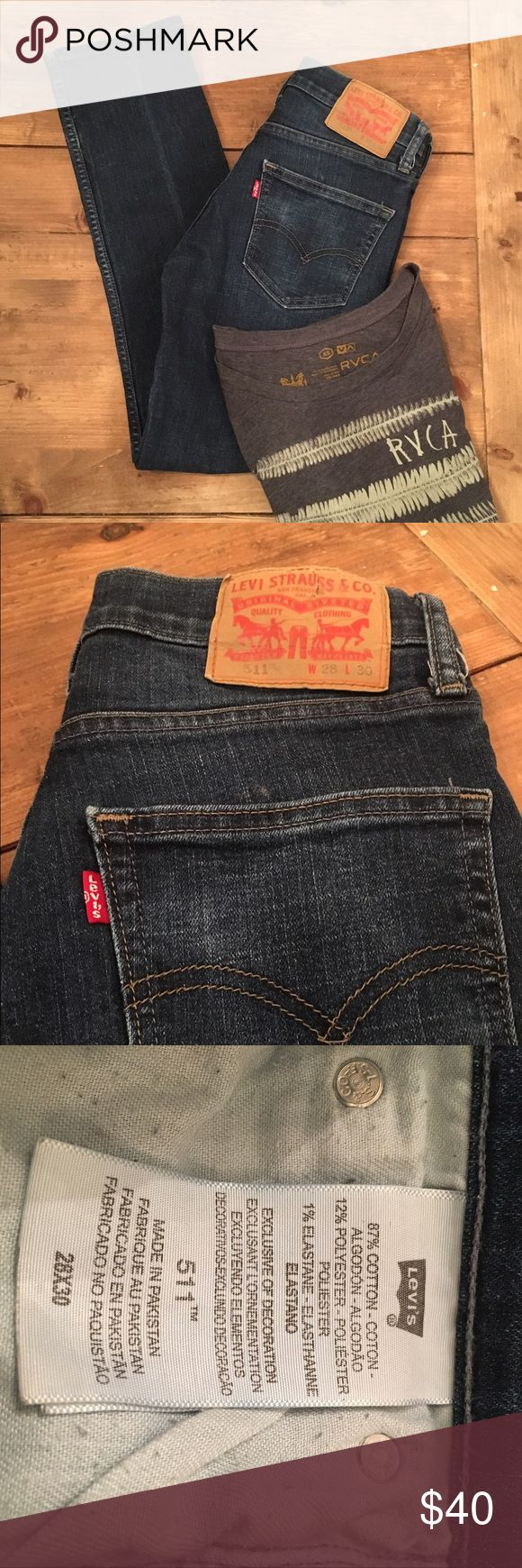 Men's Levi jeans Gently used Levi jeans in great condition. Dark wash slim fit (511). W28L30. Levi's Jeans Straight