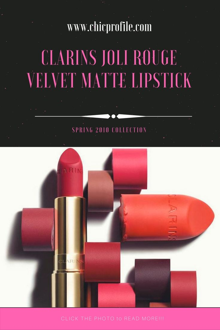 Clarins Joli Rouge Velvet Matte Lipstick is a new line that will be launching for Spring 2018 in ten new matte finish lipstick shades. via @Chicprofile