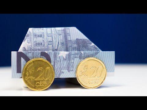 HUND aus Geldschein falten LEICHT, Hunde aus Geld basteln, einfache Anleitung - YouTube