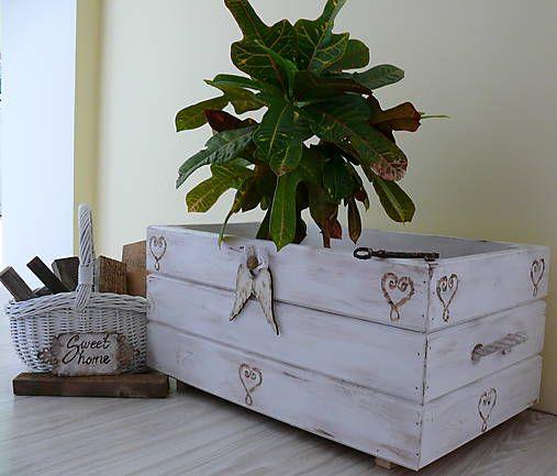 Velká truhlica-debna-kvetináč-Vintage :)