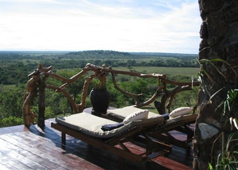 View from Mbalageti Luxury Tented Camp, Tanzania, East Africa.