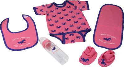 Western Baby Girl 5 Piece Baby Set