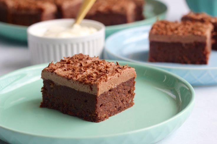 This is the BEST paleo brownie recipe we've ever made! Super easy and freaking yum as. Also, we made some magical choc banana frosting.  via @themmsisters
