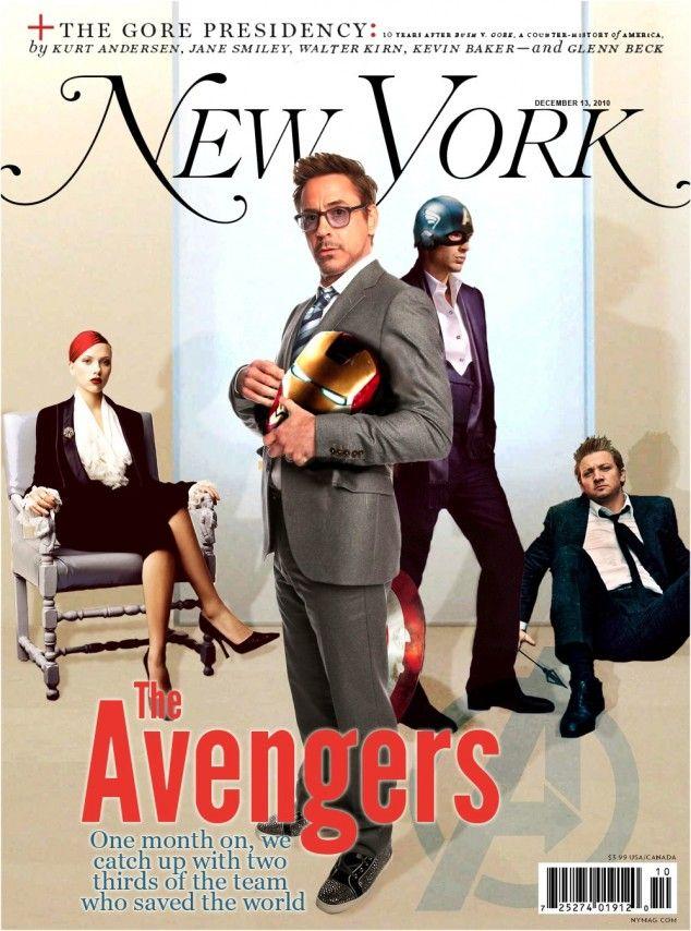 les avengers en vrai en couverture de magazine 2   Les Avengers en vrai en couverture de magazine   tumblr photo parodie magazine Iron Man image hulk captain america avengers