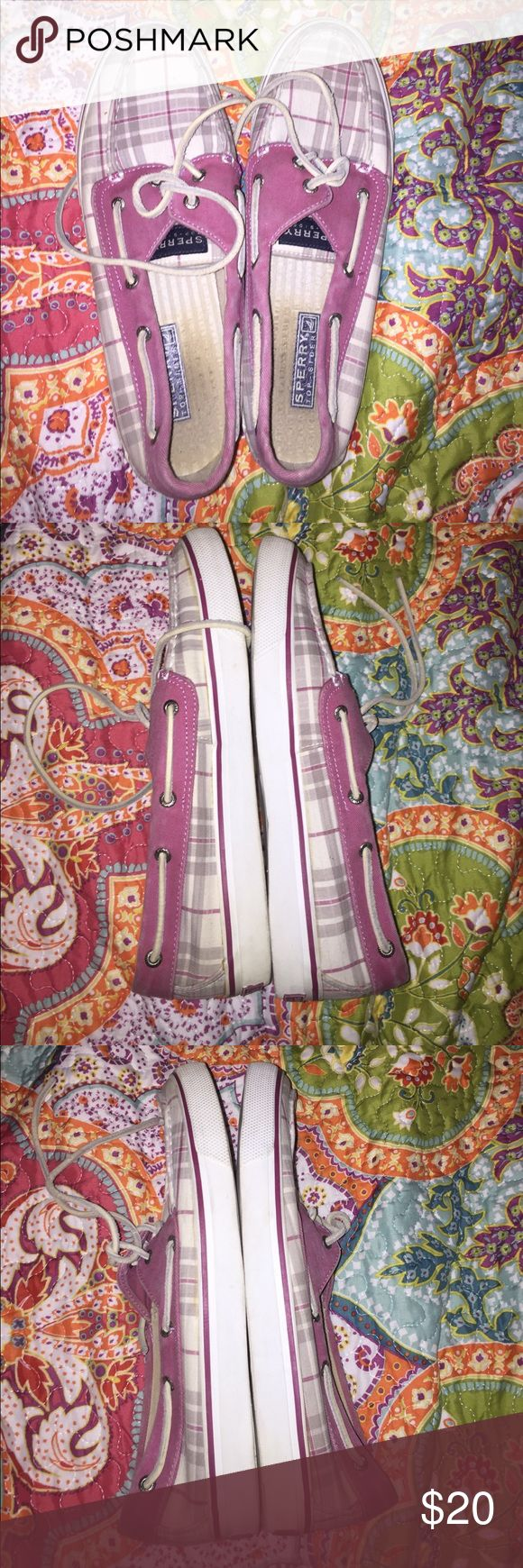 Sperry sale! Final sale! Pink sperrys have been worn and used, price discounted for it Sperry Shoes