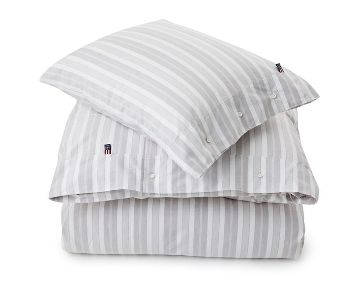 Lexington Pin Point Stripe Bedding grey Spring2016