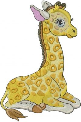 Machine Embroidery Designs Embroidery Design: Baby Giraffe 7.87 inches H x 5.25 inches W
