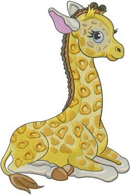 Machine Embroidery Designs Embroidery Design: Baby Giraffe 7.87 inches H x 5.25 inches W