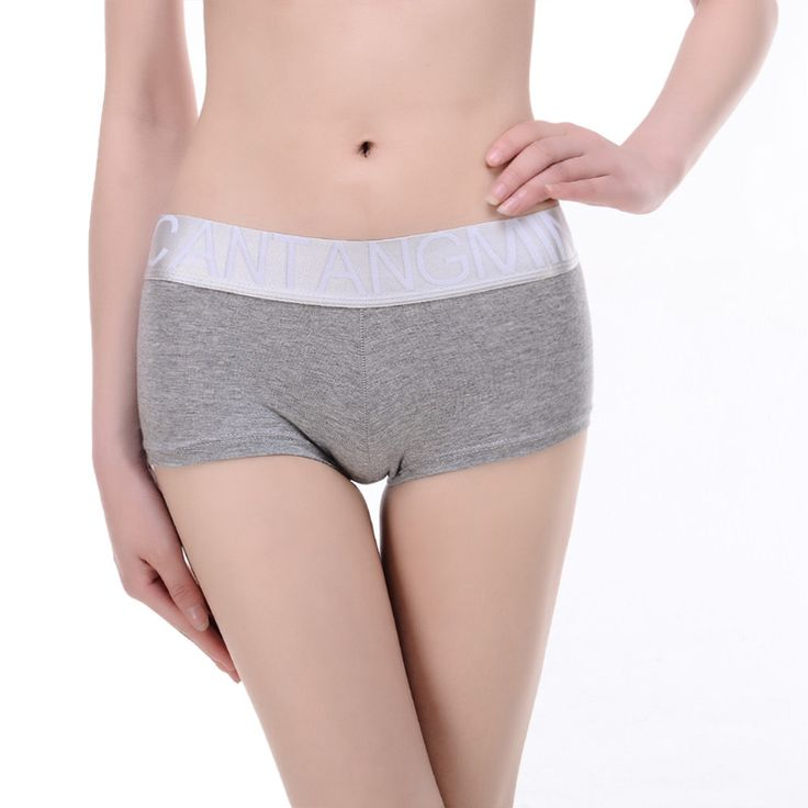 CANTANGMIN brand Lady panty underwear silver edge series cotton breathable boxers Shorts women's Hipster lingerie panties