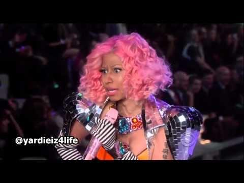 Nicki Minaj - Victorias Secret fashion show. Not sure why but I love this! I want to go someday. They make Nicki look like an oompa loompa... haha
