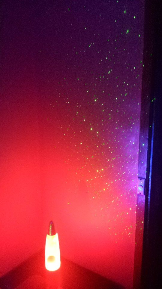 Lava lamp and star projector made for a pretty room | Black Light Party | Cosmic Events