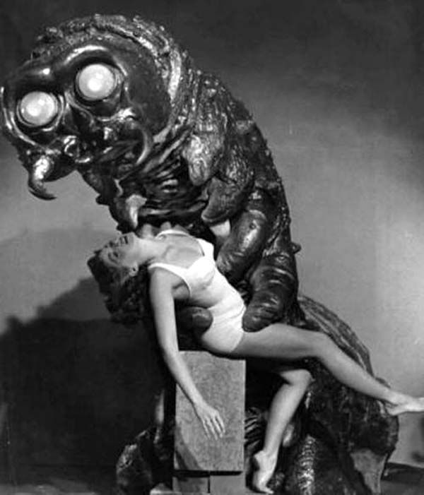Image, from the 1957 motion picture, THE MONSTER THAT CHALLENGED THE WORLD.