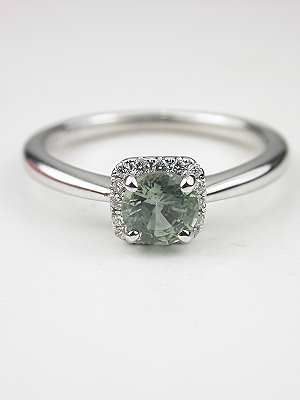 a green saphire ring.... so simple beautiful