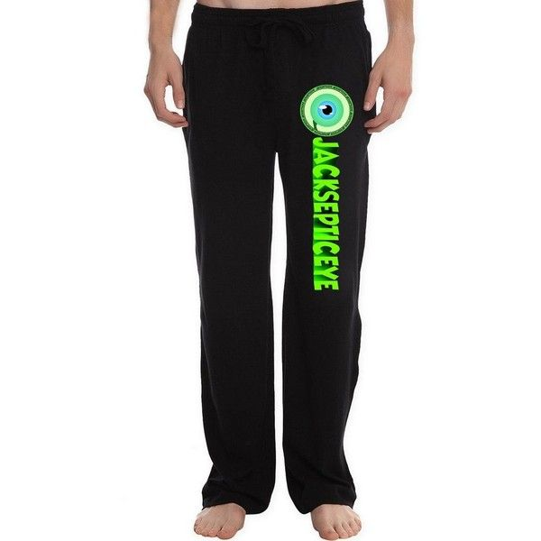 RBST Men's jacksepticeye_badge Lounge Pajama Pants (41 CAD) ❤ liked on Polyvore featuring men's fashion, men's clothing, men's sleepwear, mens sleepwear, mens pj pants, mens apparel and mens clothing
