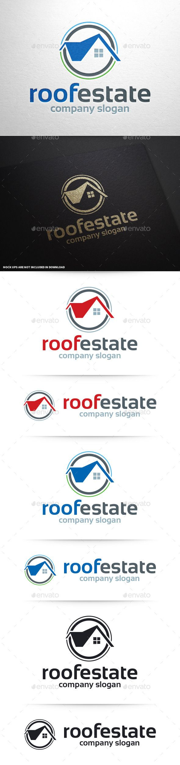 Roof Estate Logo Design Template Vector #logotype Download it here:  http://graphicriver.net/item/roof-estate-logo-template/10390400?s_rank=988?ref=nexion
