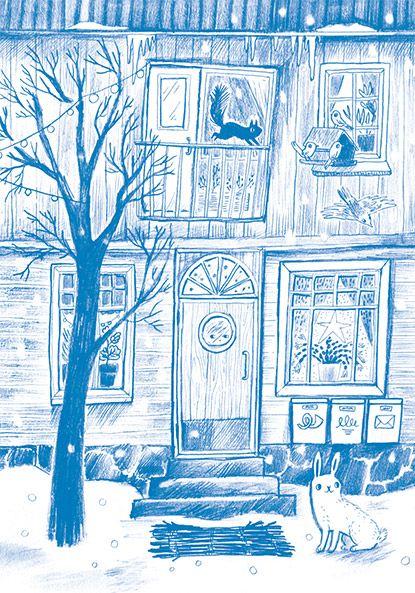 Emmi Jormalainen winter illustration