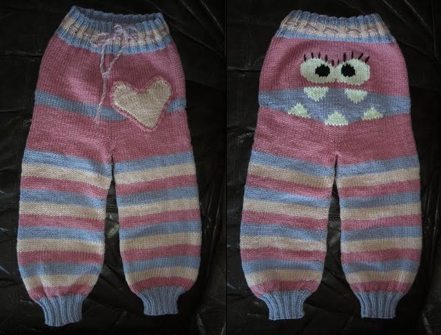 Knitting Pattern For Sock Monkey Pants : Smoochie: Pattern for my monsterpants in English! knit in brown, red and crea...