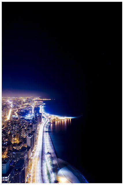 Night view Chicago