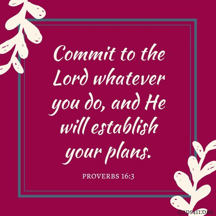 Proverbs 16:3 | Bible Verses