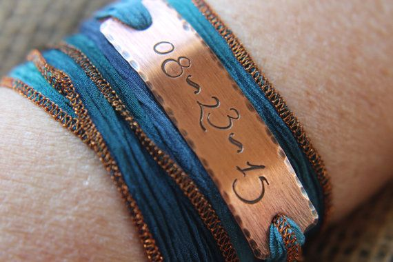 Custom Silk Wrap Bracelet Silk Wrapped by TheLandlockedDogTwo