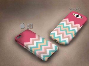 Pastel Chevron 3D case, full image, for iphone 4/5/5c & Galaxy S3/S4