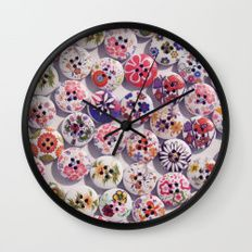 Buttons 2 Wall Clock by I Love the Quirky