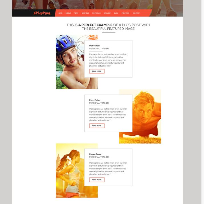 Athletica Retina Parallax OnePage Web Template on Behance 2