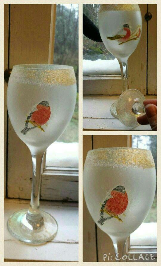 Decopage på glas