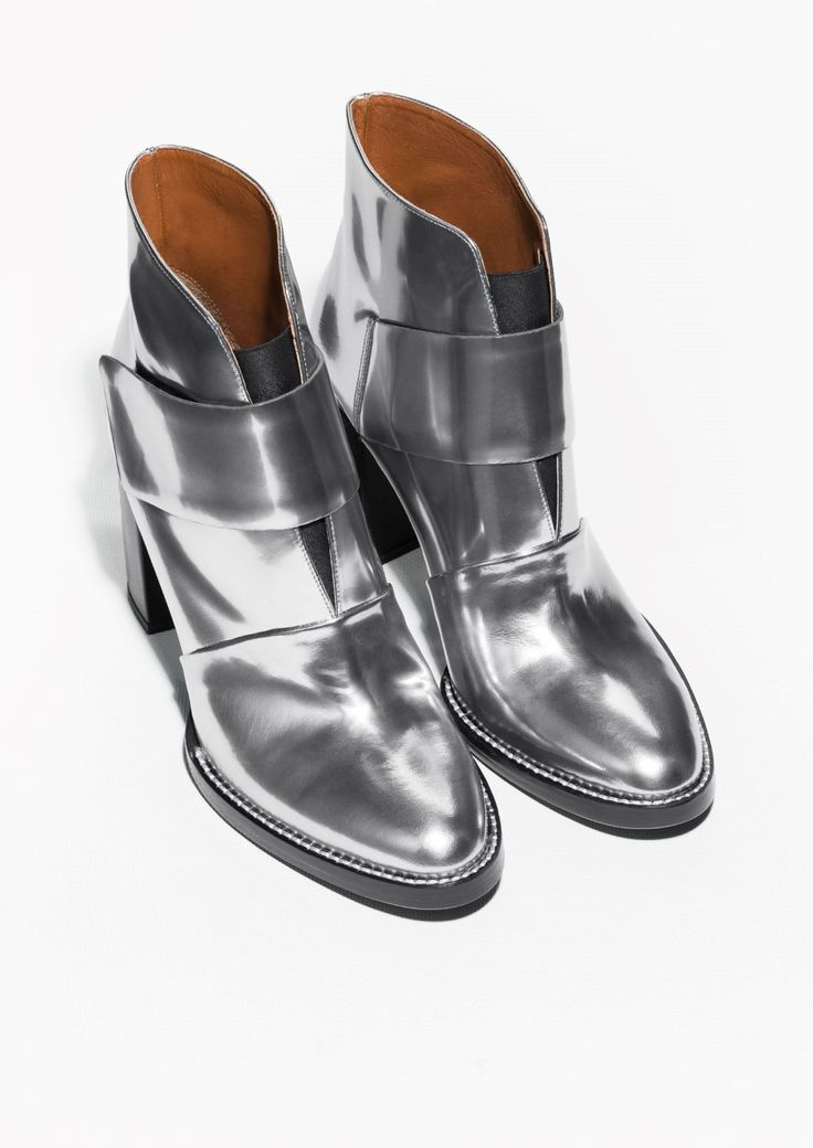 & OTHER STORIES Metallic Ankle Boots 9QQc5J