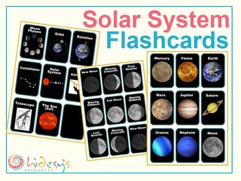 Solar System Flash Cards - Space Vocabulary Flash Cards ...