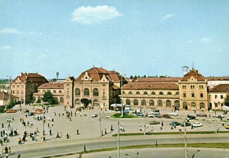 Postcard of the Railway station in Arad
