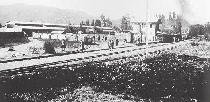 Estación Panimávida. Panimavida Railway Station. Provincia de Linares. Ca. 1930