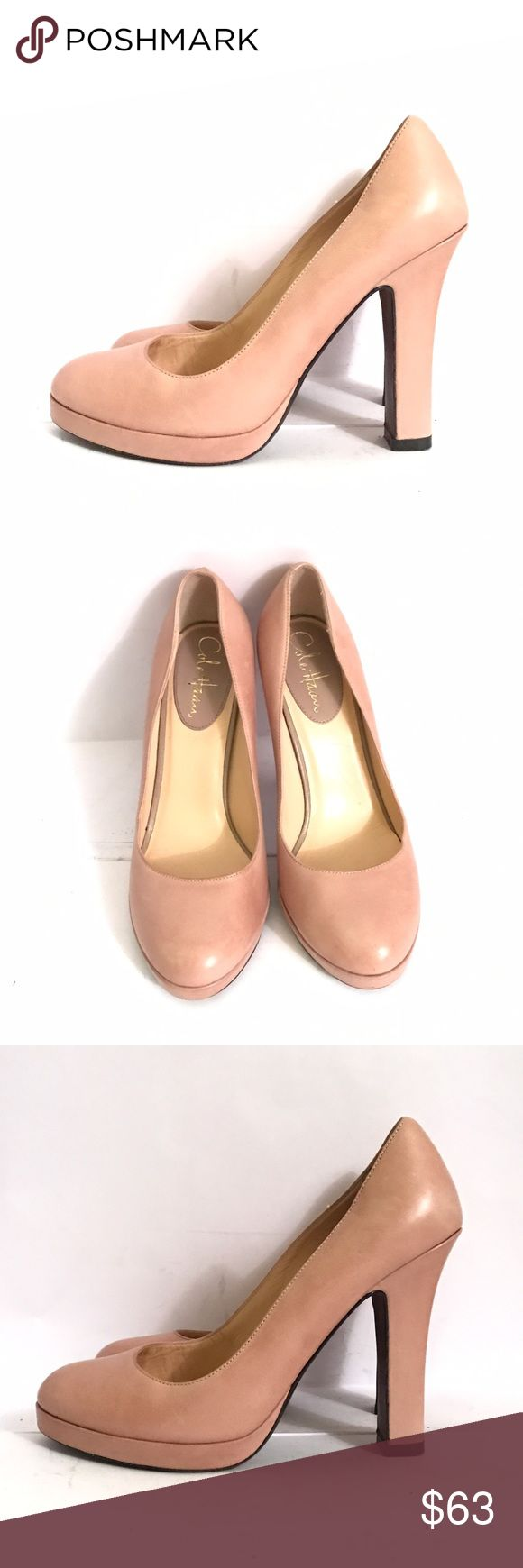 Cole Haan Nude / Blush Leather Pumps In brand new condition. So pretty and comfy pumps from Cole Haan . No stains no damages shows wear just on soles. Size 7.5 B , slight platform. Cole Haan Shoes Heels