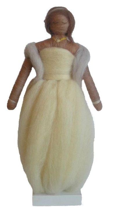 Novia realizada en lana con aguja de fieltro. http://idea.me/proyecto/3368/numuarteydiseno