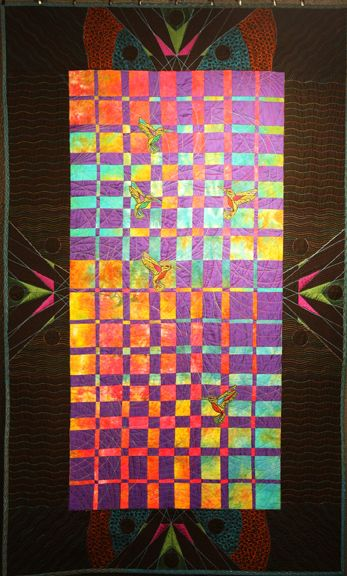 Mosura no Uta (Song of Mothra) by Amy Peterson longarm quilt art at the 2017 Mid-Atlantic Quilt Festival